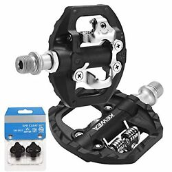 Double Platform Bicycle Pedals Dual Compatible with Shimano SPD Mountain BMX MTB $53.99