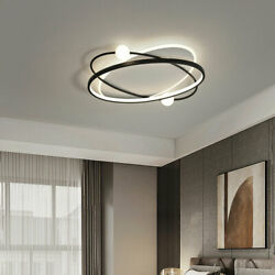 Nordic Ceiling Lights Modern Creative Round Ceiling Lamp Home Chandelier Black $155.66
