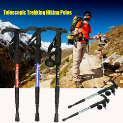 Protectors Walking Canes Hiking Poles Nordic Walking Sticks Telescopic Trekking $17.69