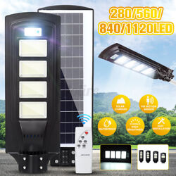 1900000 Commercial LED Solar Street Light Outdoor Area Security Remote Road Lamp