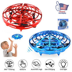 UFO Mini Drone Quad Induction Levitation Hand Operated Helicopter Toy Red Blue $15.58