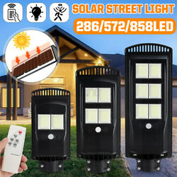 Solar LED Street Light Commercial Outdoor IP65 Area Security Road Lamp 1400000LM