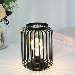 JHY DESIGN 7.5quot;High Metal Cage Decorative Lamp Battery Powered Cordless Warm Whi $34.60