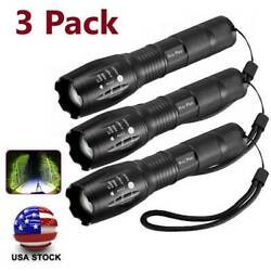 Tactical Flashlight LED 5Modes Super Bright Aluminum Zoomable Torch USA $16.19