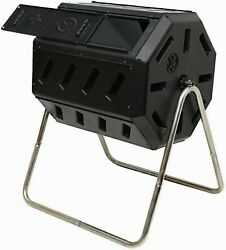 FCMP Outdoor IM4000 Dual Chamber Tumbling Composter Black 37 Gal Free Shipping $80.09