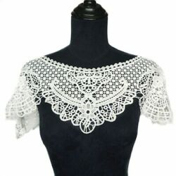 Whole Collar Water Soluble Trims Flowers White Embroidered Appliques DIY Gothic $10.66