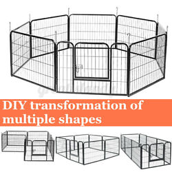 8 Panel Pet Playpen Metal Protable Folding Animal Exercise Dog Fence 24quot; Kennel $89.98