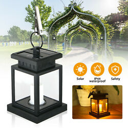 Solar Powered LED Candle Lights Table Lantern Hanging Garden Outdoor Coach Lamp $13.98