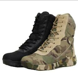Outdoor Shoes Hiking Mens Tactical Boots Military Battle Combat Army SWAT Boots $6.71