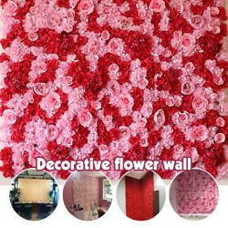Artificial Rose Flower Wall Panel Home Wedding Backdrop Main Road Floral Decor $26.26