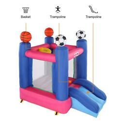 Inflatable Bounce House Kids Castle Football Theme Bouncer for Indoor Outdoor $139.98