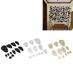 Mirror Wall Stickers DIY Living Room TV Background Wall Decals Home Decor $7.29