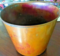 VINTAG E SOLID COPPER PAIL WITH HANDLE 8 1 2 X 7 1 2 INCHES BUCKET amp; HANDLE $138.60