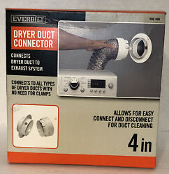 Everbilt 4 In Dryer Duct Connector To Wall White Plastic Only $14.99