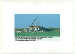 Aircraft helicopter.crash at yarcombe devon. Vintage photograph 1537449 $18.90