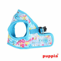 Puppia Dog Puppy Harness Soft Vest Spring Garden Blue Small S 12 13quot; Chest $18.95