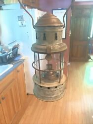 Rare Small Nautical Ships Lantern. Great Condition. I Believe Topping Bros. Co. $250.00