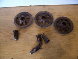 Vintage F.E. Myers OK Hay Trolley Parts One 3 3 4quot; Track Wheel Ashland OH $15.99