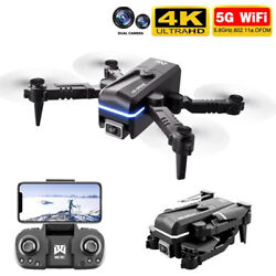 Mini Foldable Drone with 4K Dual Camera RC Pocket Quadcopter One Key 2Battery $35.99