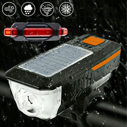 Light Headlight w Horn Bike Rechargeable Front Light Tail Rearlightamp; LED Bicycle $4.99