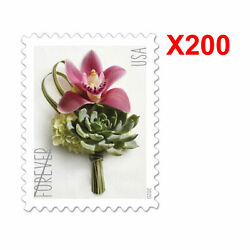 200PCS USPS US Contemporary Boutonniere 2020 Forever Postage Stamp Free Shipping $29.88