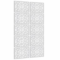 """Lchen Hanging Room Divider10 Pieces Wood Plastic Hanging Panels 0.2""""Thick Scr... $40.99"""