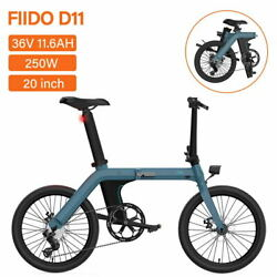 FIIDO D11 20 inch Electric Bicycle Folding E Bike Power Assist 7 Speed 36V 250W $1015.99