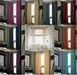 2PC living room curtain set Solid lined heavy Blackout dining bedroom sets k86 $18.50