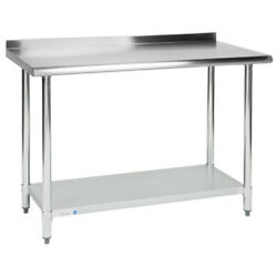 Commercial 24quot; x 48quot; Stainless Steel Work Prep Table With 2quot; Upturn Kitchen NSF
