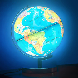 Illuminated World Globe for Kids with Stand 8inch?Rewritable Colorful Easy Read $36.99