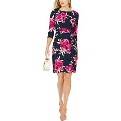 Jessica Howard Womens Navy Floral Party Cocktail Dress Petites 12P BHFO 5316 $29.23
