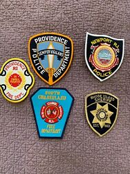 5 Rhode Island Police Patches Cloth $15.00