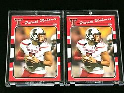 PATRICK MAHOMES 2017 ROOKIE SP RED TEXAS TECH RC 2 CARD LOT CHIEFS MVP $19.99
