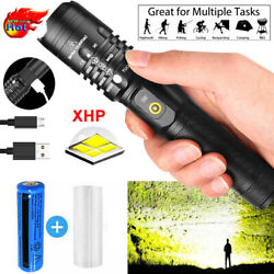 Super Bright 990000LM LED Flashlight Rechargeable USB Torch Zoomable Hiking Lamp $13.28