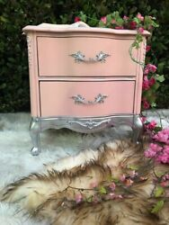 Vintage Nightstand Refurbished in Shabby Chic Style Excellent Condition $345.00