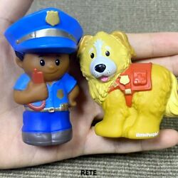 Fisher Price Little People AA Policeman Police Man amp; Rescue Dog Animals Figures $8.99