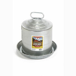 Miller Manufacturing 2 Gallon Double Wall Metal Poultry Fount Automatic Waterer $32.99