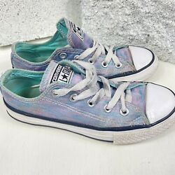 Converse All Star Kids Size 13 Multicolored Sneakers Girls Low Top $15.00