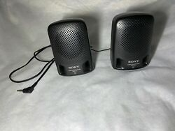 Sony SRS P3 Stereo Speaker System for Walkmans Mini Systems PC w 3.5mm Jack $11.50