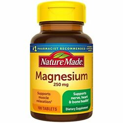 Nature Made Magnesium 250 mg Tablets 100 Count for Nutrition Support $5.02