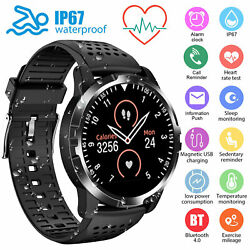 Smart Watch Heart Rate ECG PPG Blood Pressure Waterproof for iOS Android iPhone $47.98