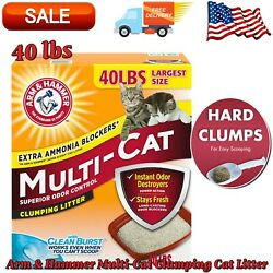 Arm amp; Hammer Multi Cat Clumping Cat Litter Scented 40 lbs Box Fresh and Clean $18.99