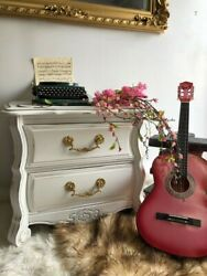 Vintage Nightstand Refurbished in Shabby Chic Style Solid Wood Excellent Cond $339.00