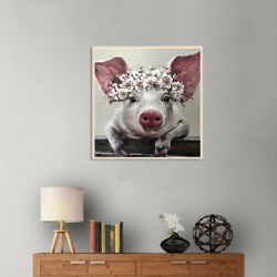 Canvas Painting Pig Big Ears Picture Art Poster Wall Living Room Office Decor US $7.64