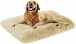 Faux Bed Dog Washable Mat Soft Cushion Warm Large Kennel Pad Calming Jumbo Size $40.00