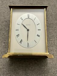 Acctim Solid Brass Desk or Mantle Clock Made In France $35.00