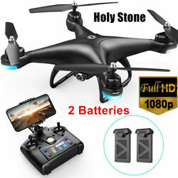 Holy Stone HS110D FPV with 1080P HD Camera Drone WiFi Quadcopter RC 2 Batteries $80.99