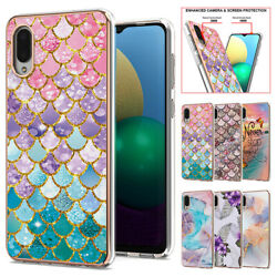 For Samsung Galaxy A02 M02 Shockproof Marble Pattern Back Case Cover For Girls $8.99