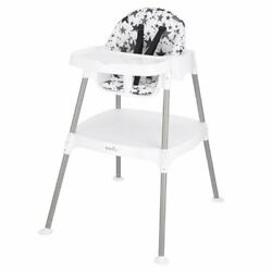 Evenflo 4 in 1 Eat amp; Grow Convertible High ChairPop Star Gray color for baby $55.00
