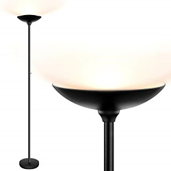 Torchiere Floor Lamp LED Floor lamps 24W 2400LM Super Bright Lamp Stepless $68.73